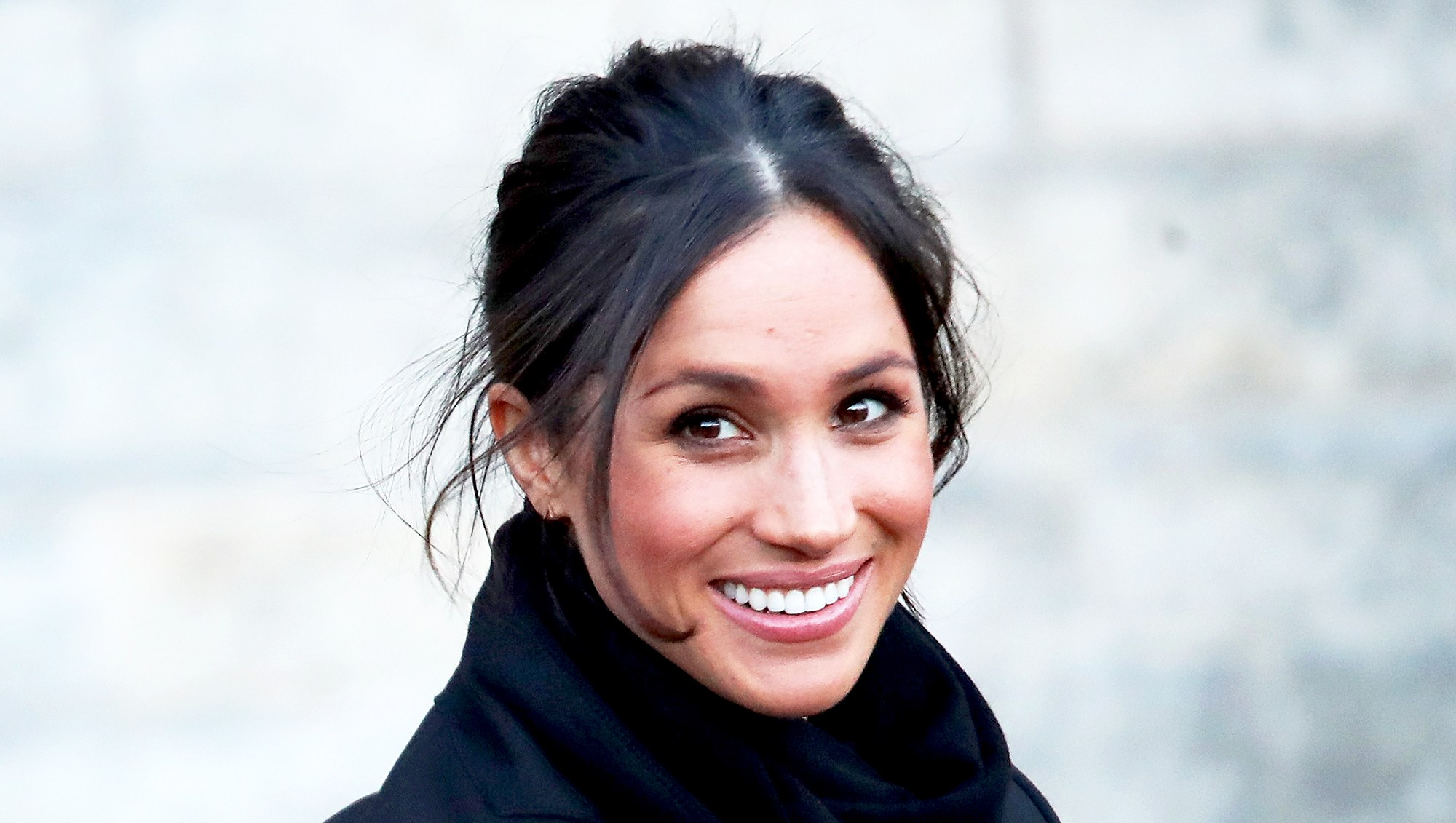 Meghan Markle seen at Cardiff Castle on January 18, 2018 in Cardiff, Wales.